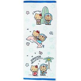 ドラえもん ハローキティ フェイスタオル インクジェット フェイスタオル ホットサマー サンリオ 丸眞 プレゼント キャラクターグッズ メール便可 シネマコレクション