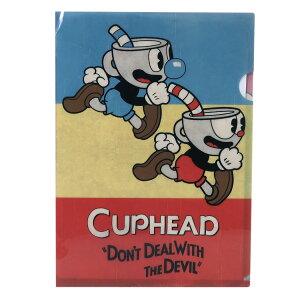 CUPHEAD カップヘッド A4 シングル クリアファイル クリアフォルダー 2 エンスカイ 新学期 雑貨 文具 ゲームキャラクターグッズ メール便可 シネマコレクション cfcp
