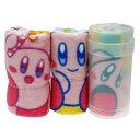 星のカービィ ハンドタオル 円筒ケース付き ハンカチタオル 3枚セット わくわくカービィ Nintendo 丸眞 レジャー用品 …