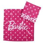 バービー ハンドタオル シャーリング ウォッシュタオル 2枚セット アイコンドット Barbie 丸…