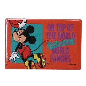 ミッキーマウス スクエア マグネット 角 磁石 バスケットボール ディズニー スモールプラネット キッチン 雑貨 キャラクターグッズ メール便可 シネマコレクション