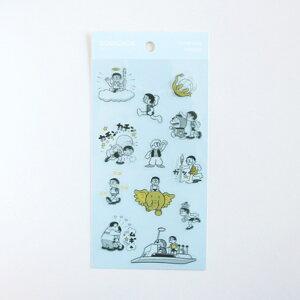ドラえもん シールシート クリアシール 50周年記念 ブルー グリーンフラッシュ 手帳デコ プチギフト アニメキャラクターグッズ メール便可 シネマコレクション