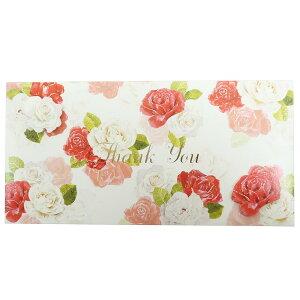 熨斗袋 FLOWER ギフト 金封 THANK YOU クローズピン 大人可愛い メッセージカード付き ご祝儀袋グッズ メール便可 シネマコレクション