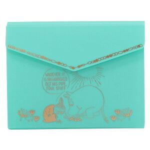 ムーミン カードファイル ポケット式 カードケース ミント 北欧 APJ 24枚収納可 プレゼント キャラクターグッズ メール便可 シネマコレクション