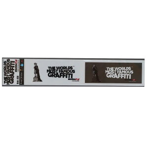バンクシー ビッグ シール ミシン目カット 2pcs ステッカー Liberty Girl Banksy ゼネラルステッカー 耐水耐光仕様 ART オフィシャルグッズ メール便可 シネマコレクション