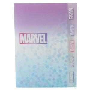 MARVEL ダイカット 5ポケット A4 クリアファイル ポケットファイル ピンク マーベル サンスター文具 文房具 キャラクター グッズ [MARVELCorner]