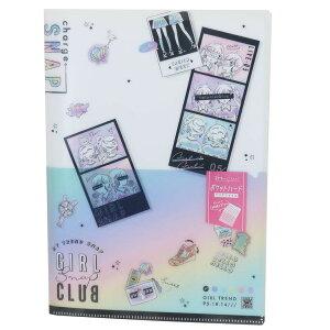 ポッケ付き 6ポケット A4 ハード クリアファイル ポケット ファイル GIRL SNAP CLUB カミオジャパン 新学期準備文具 かわいい グッズ シネマコレクション
