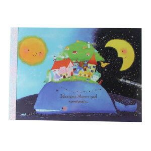 吉田麻乃 メモ帳6 メモパッド クジラの楽園 クローズピン 大人可愛い ガーリーイラスト グッズ メール便可