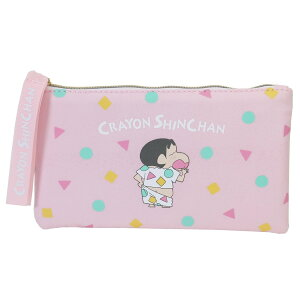クレヨンしんちゃん ペンケース フラット ペンポーチ ピンクパジャマ マリモクラフト 筆箱 アニメキャラクター グッズ シネマコレクション