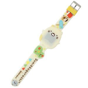 すみっコぐらし デジタル腕時計 ダイカット ライティング ウォッチ ねこ サンエックス ユニック プレゼント キャラクター グッズ シネマコレクション