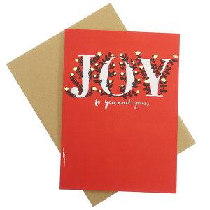 クリスマスカード エッグプレス 箔押 カード ベリージョイ APJ 封筒付きグリーティングカード Xmas グッズ メール便可 シネマコレクション