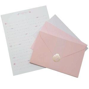 レターセット シンプル デコ レター ハート クラックス 便箋&封筒 手紙セット グッズ メール便可 シネマコレクション