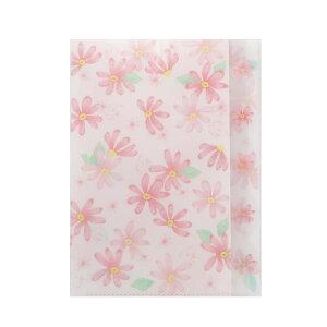 5ポケット ダイカット クリアファイル ポケットファイル SUNNY SPRING ピンク サンスター文具 新学期準備雑貨 かわいい グッズ シネマコレクション
