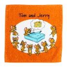 トムとジェリー ミニタオル インクジェットプリント ハンカチタオル ジェリー アイラブチー…