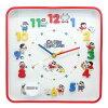 クレヨンしんちゃん壁掛け時計スクエア型アイコンウォールクロックティーズファクトリーギフト雑貨インテリアアニメキャラクターグッズシネマコレクション