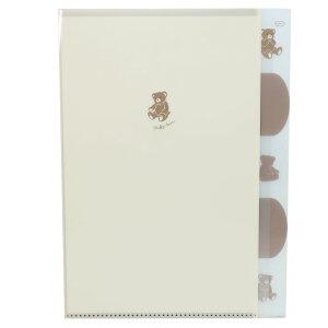 A4 クリアファイル 5インデックス ダイカット ポケットファイル simple ga suki テディベア クラックス 新学期準備文具 かわいい 小学生 中学生 女の子 グッズ シネマコレクション