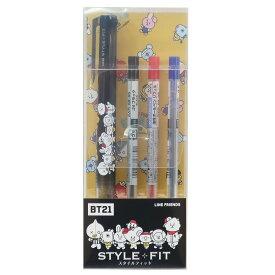 BT21 ボールペン スタイルフィット 3色ホルダーペン スポーツ1 LINE FRIENDS エンスカイ コレクション キャラクター 商品 メール便可 シネマコレクション