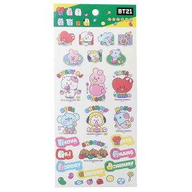 BT21 シールシート マスク シール ベビー1 LINE FRIENDS エンスカイ コレクション キャラクター 商品 メール便可 シネマコレクション