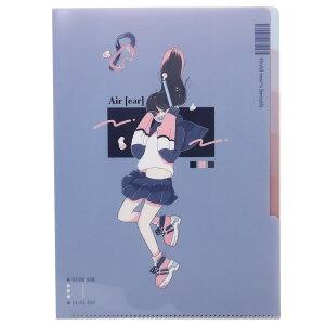 A4 クリアファイル 5インデックス ポケットファイル ジブンマニア AIRER カミオジャパン 書類整理 新学期準備文具 グッズ シネマコレクション