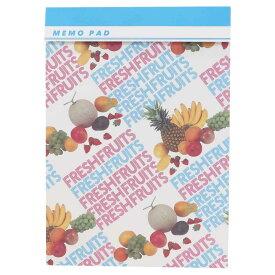 メモ帳 A4 メモパッド ファンシーペーパー レターフルーツ シモジマ 30枚綴り おしゃれ文具 レトロ包装紙柄 グッズ メール便可 シネマコレクション