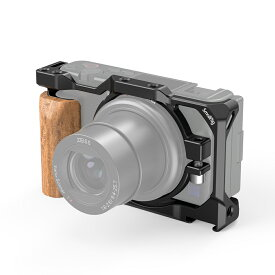 【送料無料】SmallRig Sony ZV-1用ウッドグリップ付きケージ 2937【楽天海外直送】