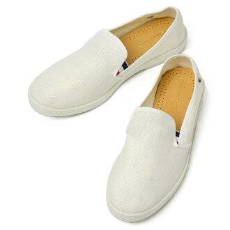 RIVIERAS slip-on sneakers raffia 1116 MONTECRISTI COCARDE BLANC (white)