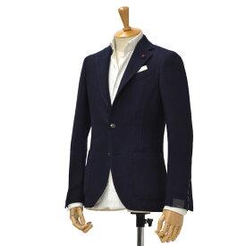 LARDINI【ラルディーニ】パッチワーク風シングルジャケット EASY JJ903BQ/IBA4753 276 wool NAVY(ネイビー)