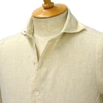 Finamore linen shirt SIMONE 010608 004 linen beige