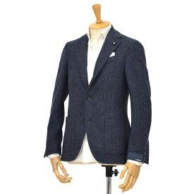 LARDINI【ラルディーニ】ヘリンボーン ラムズウールジャケット EASY JN950AQ/IGA51543/11 ウール ネイビー