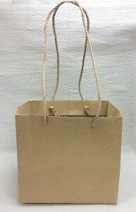 特価品【クラフト紙 ペーパーバッグ M 25枚入】 手提袋 ラッピング 包装紙 紙袋 ギフトバッグ 包装用品 花資材