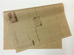 【 英字包装紙 ブラウン 約76cm×53cm/500枚入り】 1/2サイズ クラフト紙 ラッピング ギフト 英字新聞 包装紙 ラッピング用品 フラワーラッピング 花資材