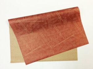 【 英字包装紙 レッド 約76cm×53cm/100枚入り】 1/2サイズ クラフト紙 ラッピング ギフト 包装紙 ラッピング用品 フラワーラッピング 花資材