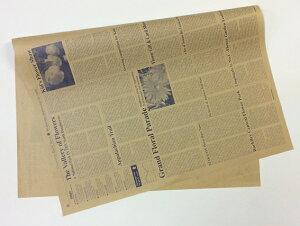 【 英字包装紙 ネイビー 約76cm×53cm/50枚入り】 1/2サイズ クラフト紙 ラッピング ギフト 包装 ラッピング用品 フラワーラッピング 花資材 英字新聞