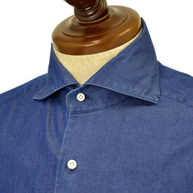 BARBA【バルバ】ドレスシャツ BRUNO 1U263PZ0998U/61 コットン ダンガリー インディゴ