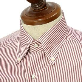 BARBA【バルバ】ドレスシャツ BRK I1U242PZ0149U フラシ コットン ロンドンストライプ レッド×ホワイト