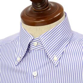BARBA【バルバ】ドレスシャツ BRK I1U242PZ0137M フラシ コットン ロンドンストライプ ブルー×ホワイト