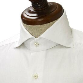 BARBA【バルバ】ドレスシャツ BRUNO I1U262PZ1900U フラシ コットン ツイル ホワイト