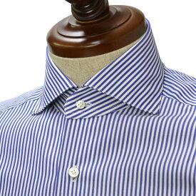 BARBA【バルバ】ドレスシャツ BRUNO I1U26RPZ0138M コットン ストライプ ダークブルー×ホワイト