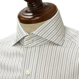 BARBA【バルバ】ドレスシャツ BRUNO I1U2620000254 コットン オルタネートストライプ ブラック×ホワイト