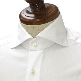BARBA【バルバ】ドレスシャツ I BRUNO I1U262PZ1000U コットン ダブルカフス ブロード ホワイト