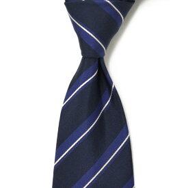 Gabriele Pasini【ガブリエレ パジーニ】 ネクタイ JG7BOTTLE GP7100 857 silk regimantal BLACK BLUE( シルク レジメンタル ブラック ブルー)