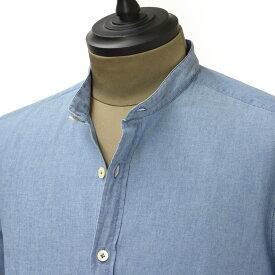Giannetto【ジャンネット】バンドカラーシャツ VINCI FIT 6G35437 VLU 001 コットン ウォッシュド デニム