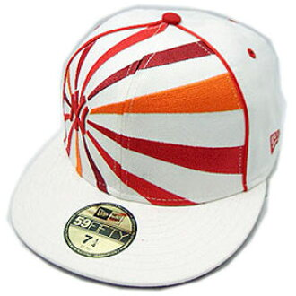 New Era CAP PIPING RISING SUN New York Yankees WHITE/RED/ORANGE新埃拉盖子管道Raigingsan纽约扬基队白/红/橙子