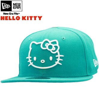 뉴에 라 × 안녕하세요 고양이 새끼 캡 화이트 로고 전투기 청록/화이트 HELLO KITTY × New Era Cap KITTY Teal White