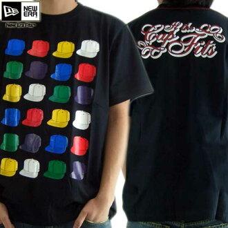 新埃拉S/S T恤多盖子球座黑色/多New Era S/S TEE Shirts MULTICAP TEE Black/Multi