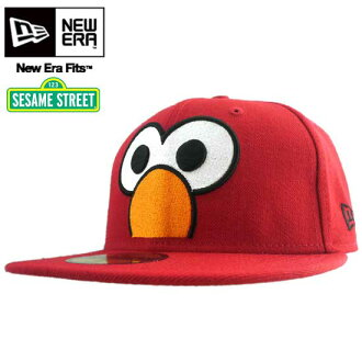新埃拉×sesamisutoritokyappubiggufeisuerumoreddo New Era×Sesame Street Cap Big Face Elmo Red