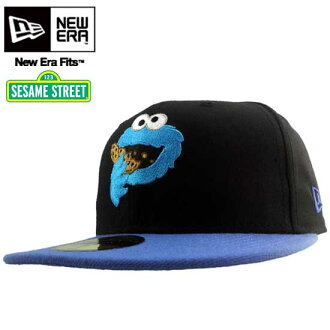뉴 에러×Sesame Street 캡 스마일 쿠키 몬스터 블랙/블루 New Era×Sesame Street Cap Smile Cookie Monster Black/Blue