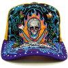 Ed Hardy rhinestone Cap 13 skull Black / Yellow / purple ED HARDY with Rhinstone Cap 13Skull Black/Yellow/Purple