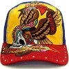 埃德哈迪线斯通盖子鹰双桨划艇黄色/皇家/红ED HARDY C54GEM057 Rhinstone Cap Eagle Skull Yellow/Royal/Red