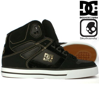 双桨划艇糖果×DC鞋303168朋友舌头高黑色黄金Skullcandy×DC Shoes 303168 Spartan Hi WC SK Black